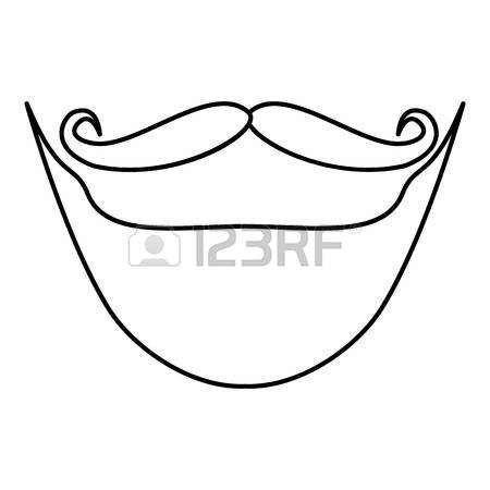 450x450 Moustache Icon, Cartoon Style Royalty Free Cliparts, Vectors,