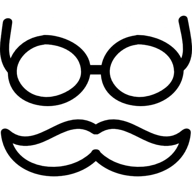 626x626 Mustache And Glasses Hand Drawn Outlines Icons Free Download