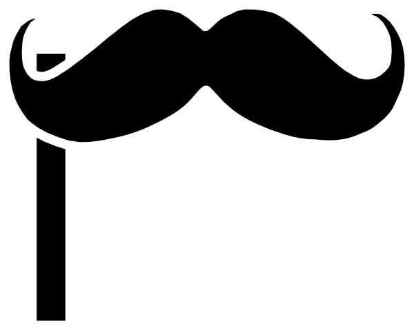 600x479 Mustache On A Stick Clip Art