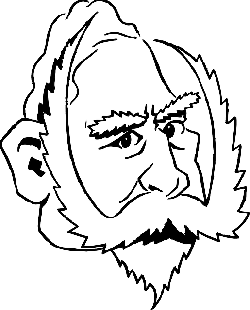 250x310 Outline, Face, Cartoon, Mustache, Kaiser, Wilhelm