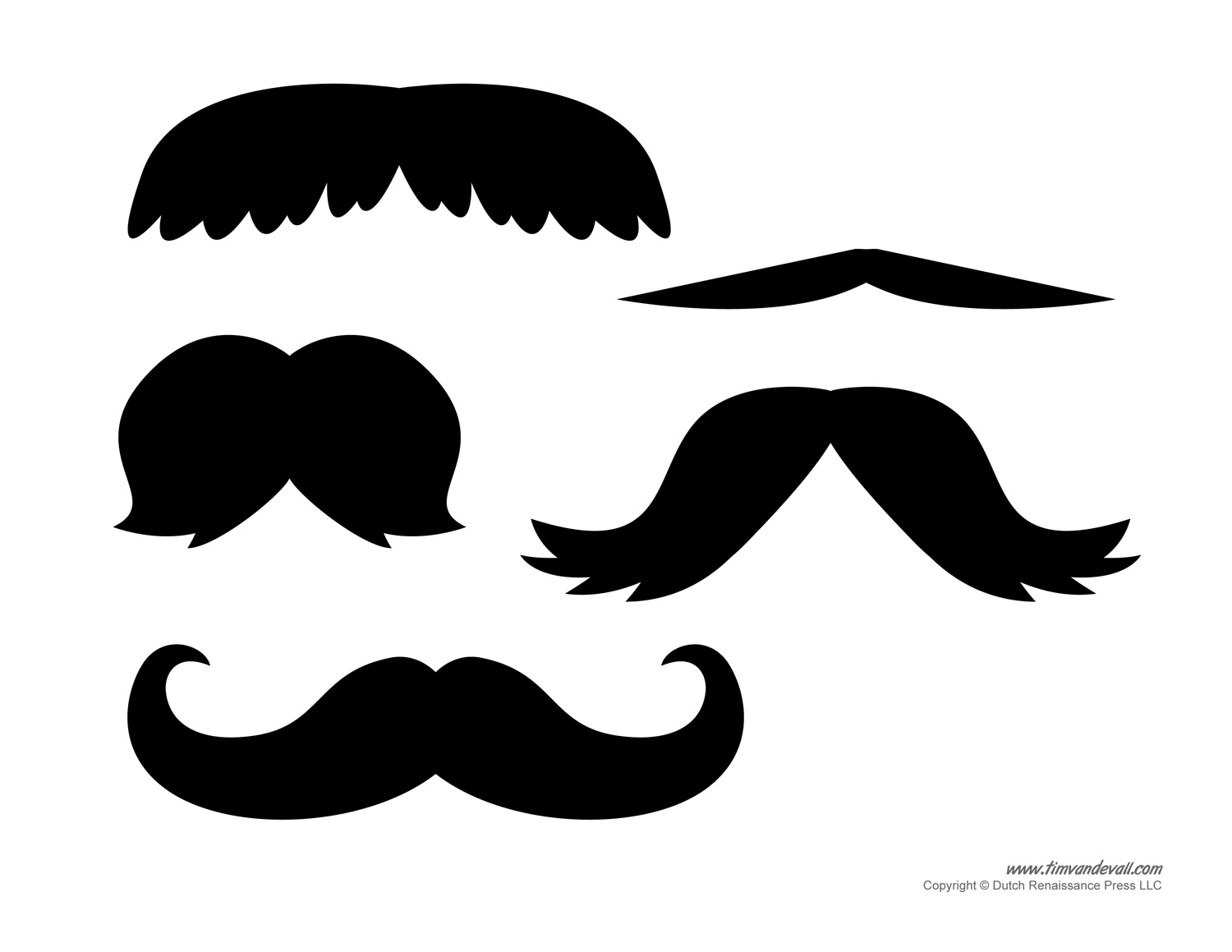 1500x1159 Printable Mustache Templates Mustaches For Kids