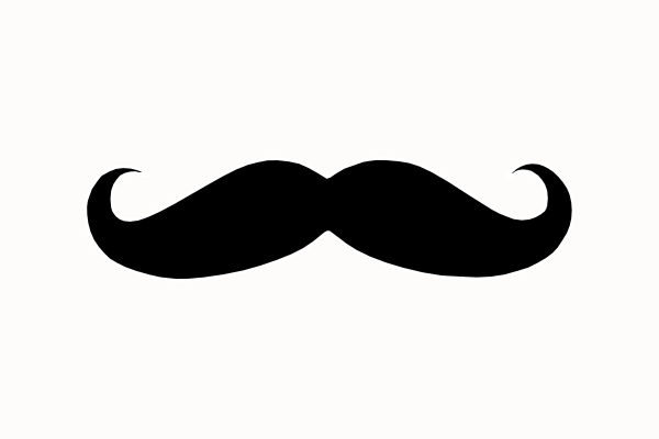 Mustache outline. Free download best on