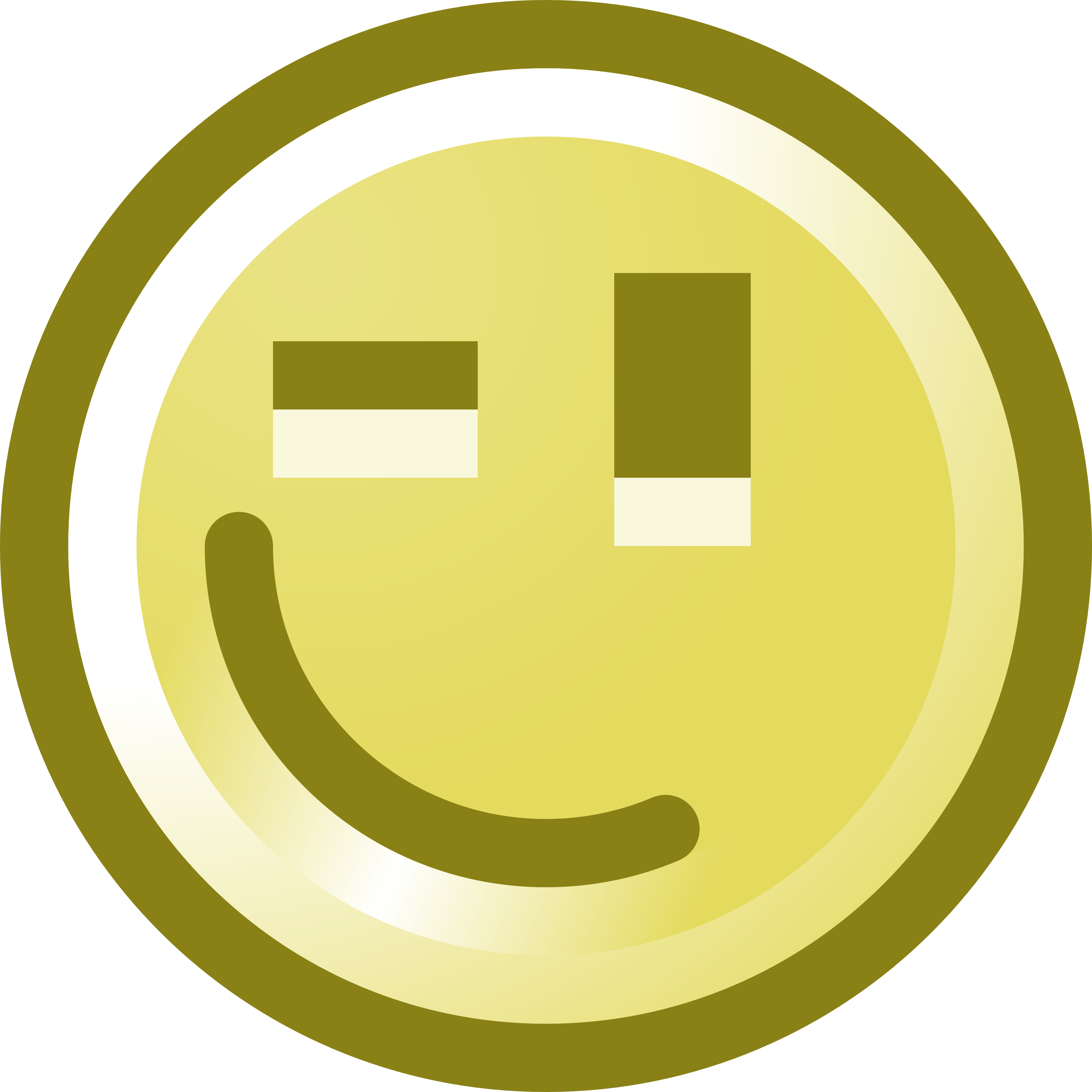 3200x3200 Free Winking Smiley Face Clip Art Illustration