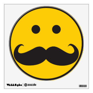 324x324 Funny Smiley Face Wall Decals Amp Wall Stickers Zazzle
