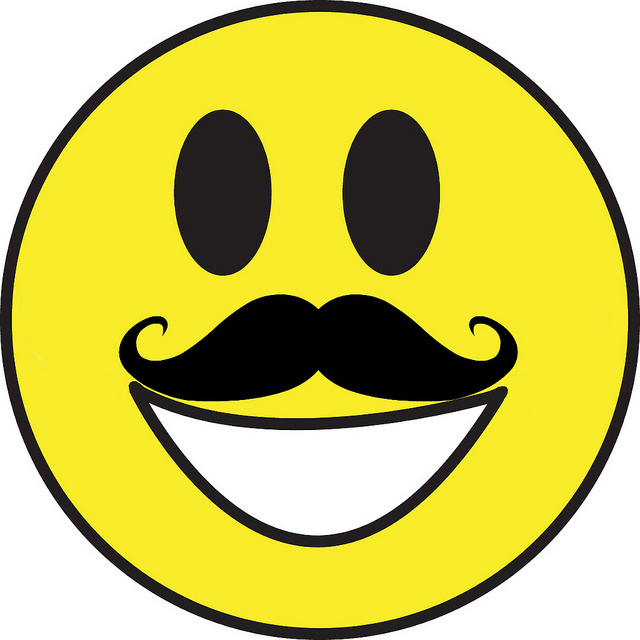 640x640 Smiley Face With Mustache Clipart Panda