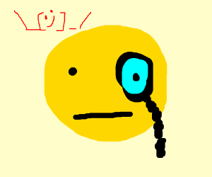 300x250 Smiley Face With Monocle And Mustache