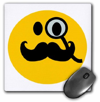 350x355 Buy 3drose Yellow Smiley Face With Big Black Mustache Funny