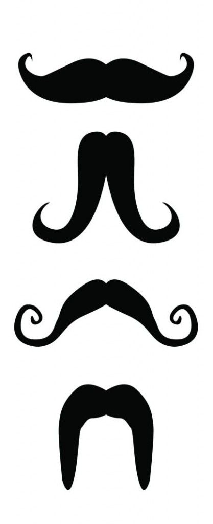 Impertinent image for printable moustaches