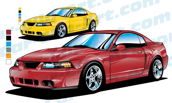 576x346 2004 Mustang Svt Cobra Coupe Vector Art Car Clip