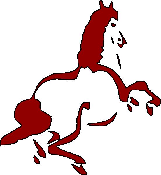 552x598 Cartoon Mustang Horse