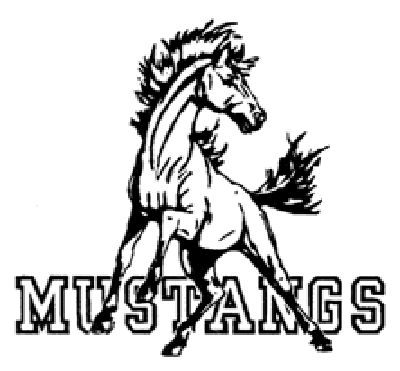 400x371 Clipart Of Mustangs