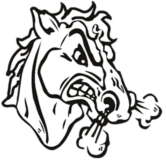 Mustang Clipart Mascot