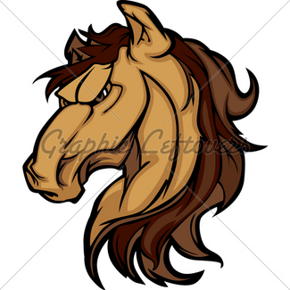 325x325 Mustang Stallion Graphic Mascot Image Gl Stock Images