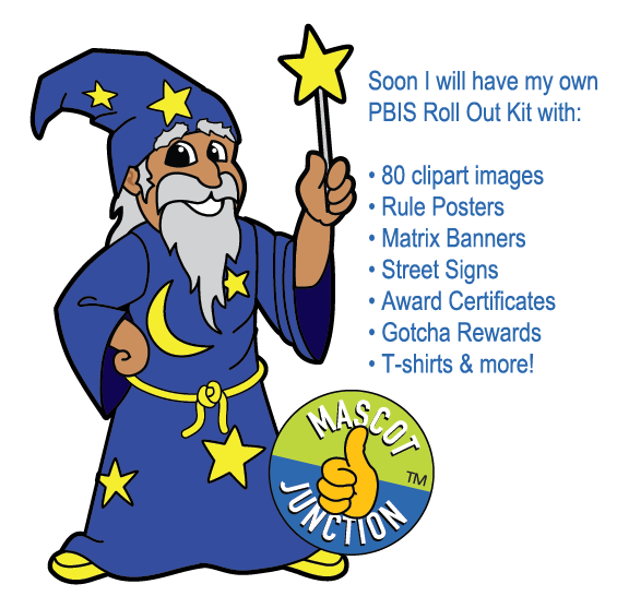 565x557 Wizard Mascot Clip Art
