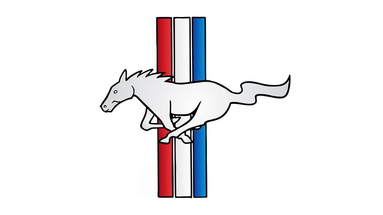 1280x720 Drawn Symbol Mustang