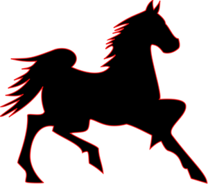 300x265 6555 Rocking Horse Outline Clip Art Public Domain Vectors