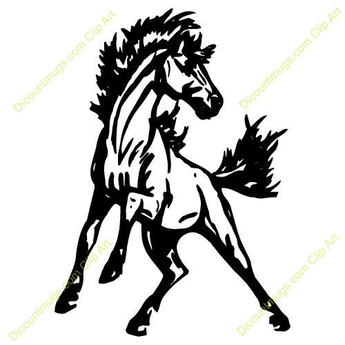500x500 Mustang Horse Clipart