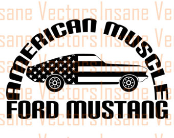 340x270 1982 Ford Mustang Vector Silhouette Clip Art Image Ford