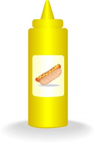 400x600 Mustard Sauce Bottle.