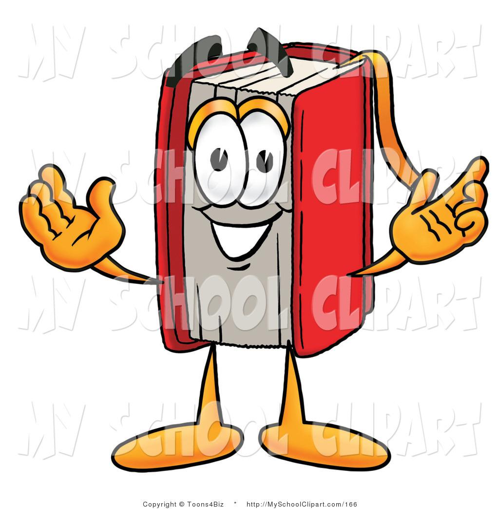 1024x1044 Clip Art Of A Happy Red Book Mascot Cartoon Character