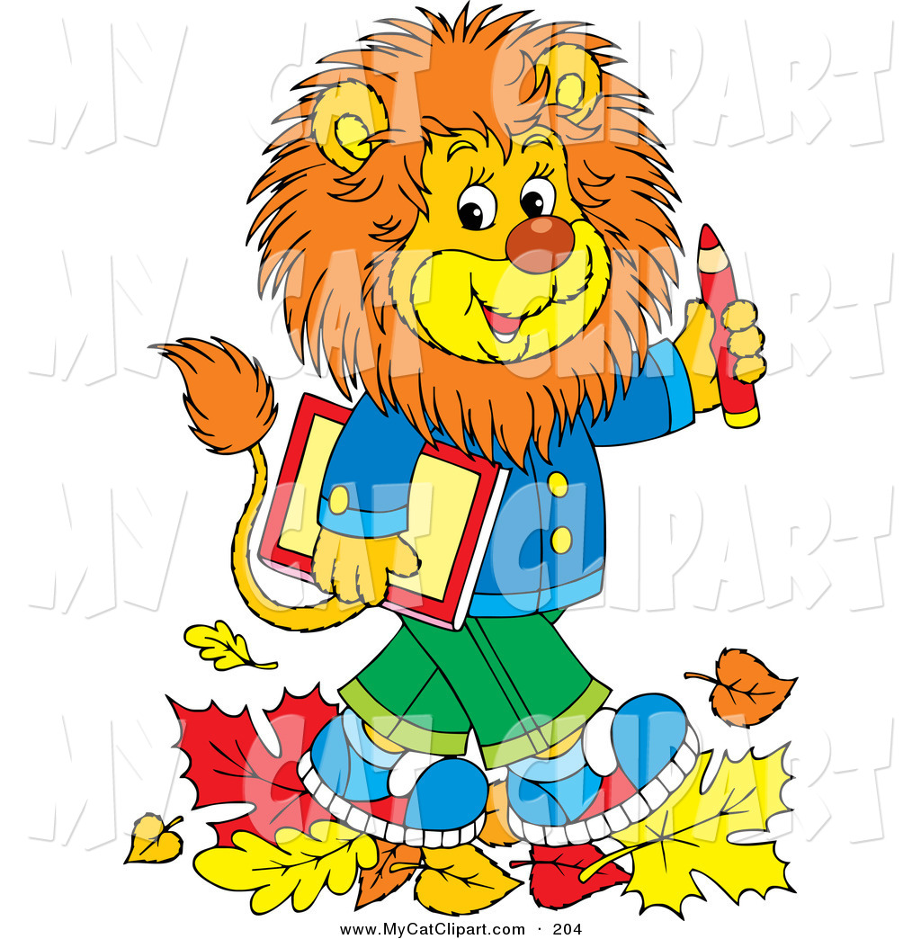 1024x1044 Clip Art Of A Happy And Smart Young Brown Male Lion Wearing