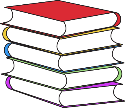 433x372 Stacked Books Clipart
