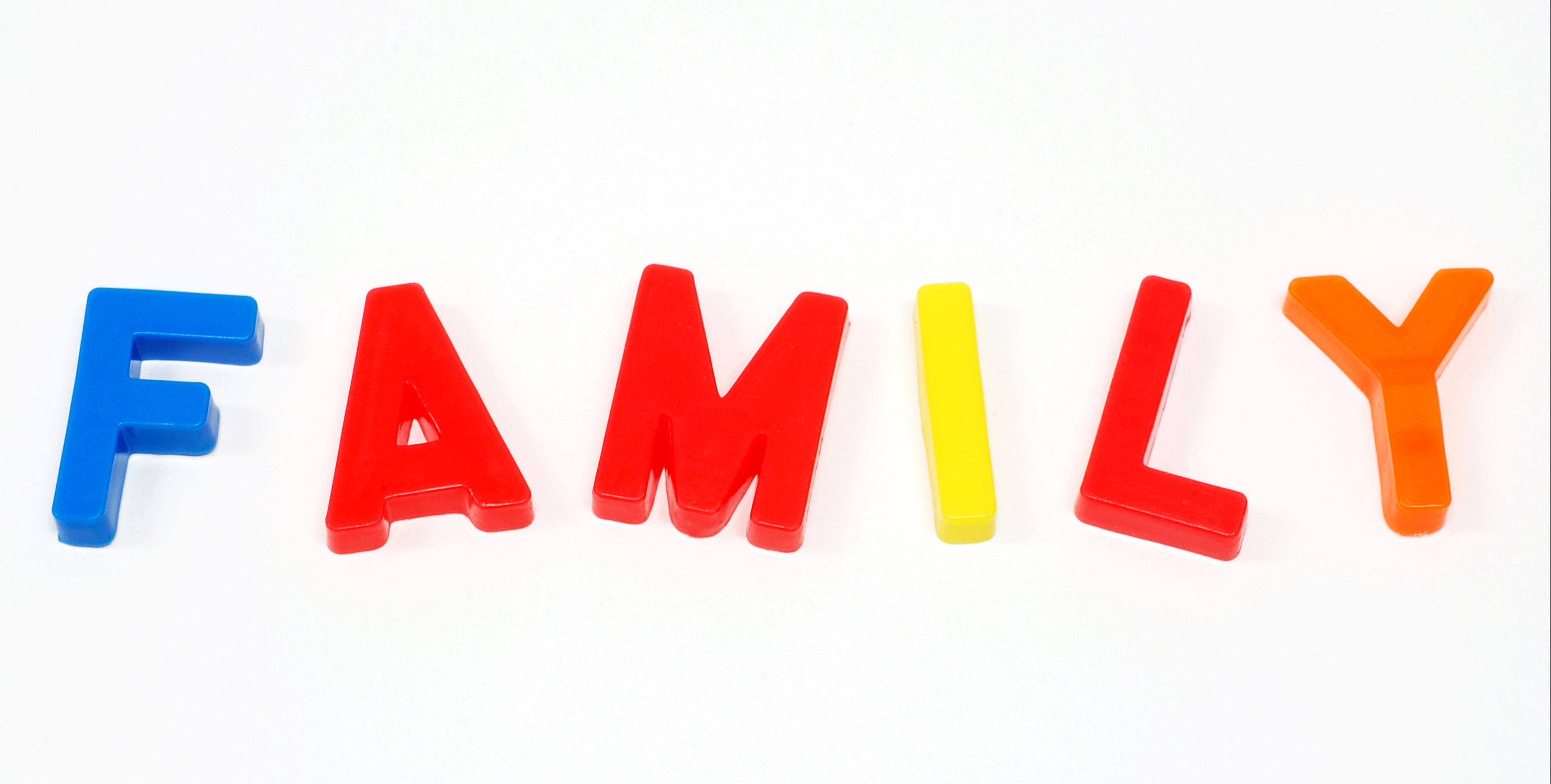 2919x1476 Free Family Word Clipart Image