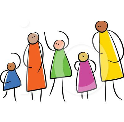 400x395 My Cartoon Family Tree Clip Art Picture