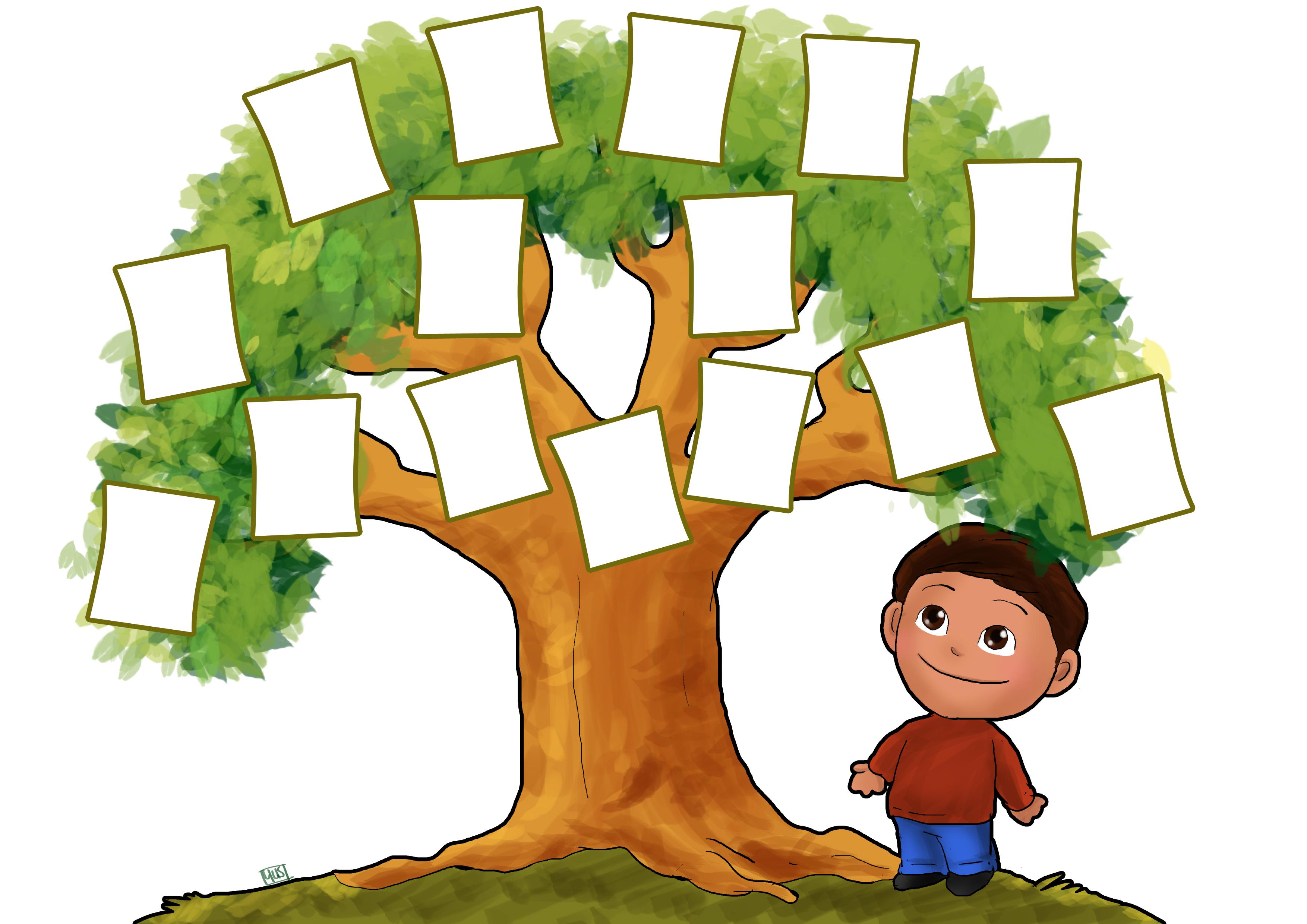 3507x2480 My Family Tree Clipart