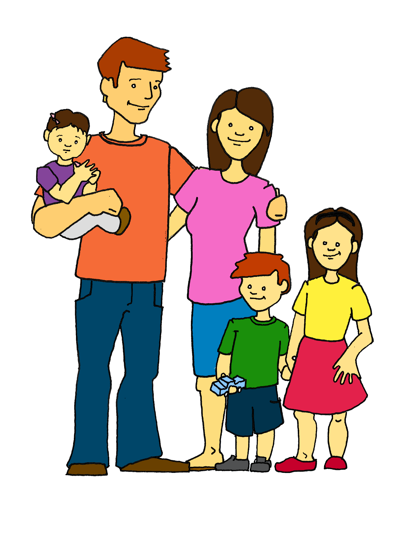 1684x2214 My Family Clipart Kid