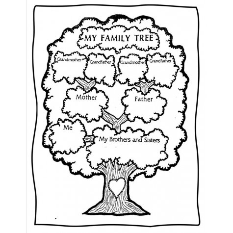 Family Tree Worksheet For Grade 1 - Best Tree In The Forest