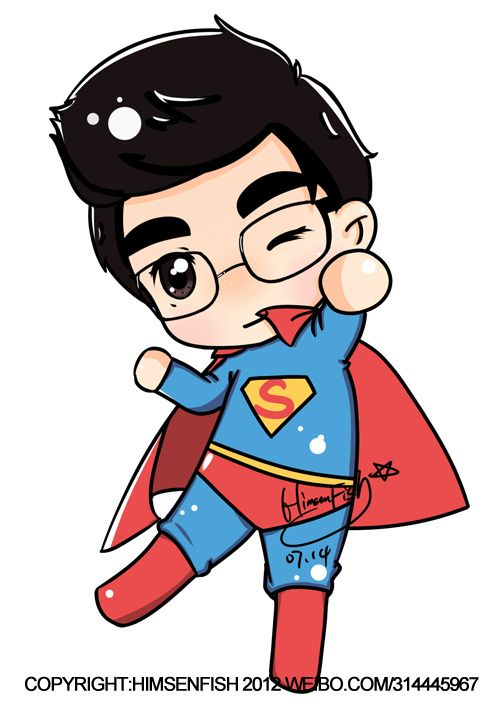 500x711 Superman Clipart Drawn