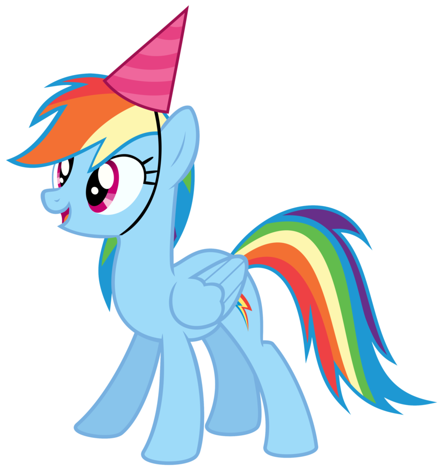 868x921 My Little Pony Clipart Happy Birthday