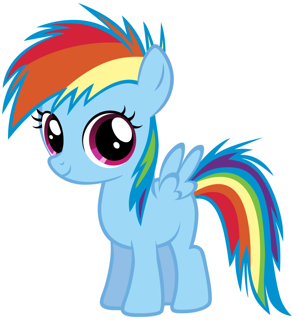 1024x1118 My Little Pony Clipart Rainbow Dash
