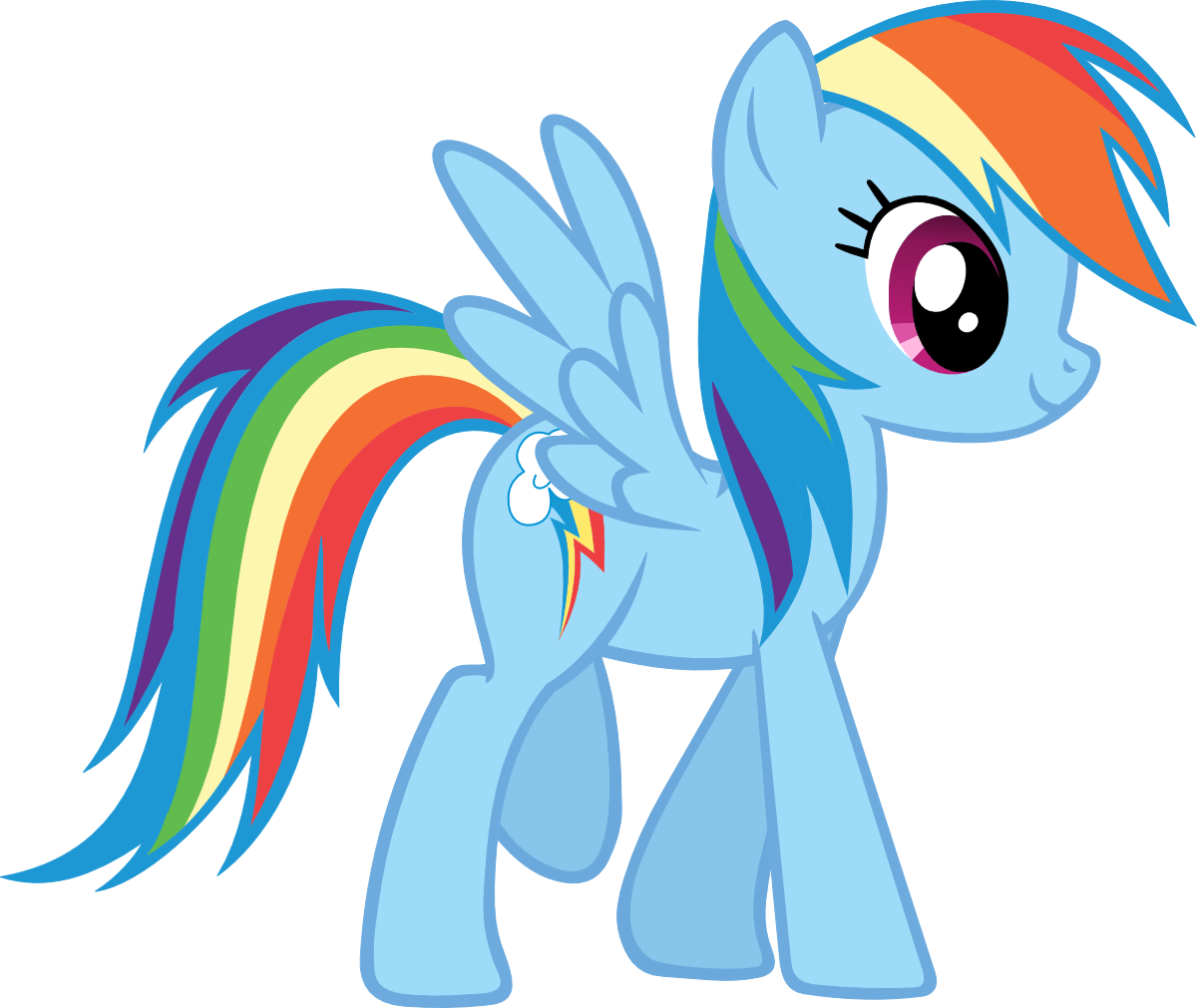 1200x1011 Profile Rainbow Dash By On @