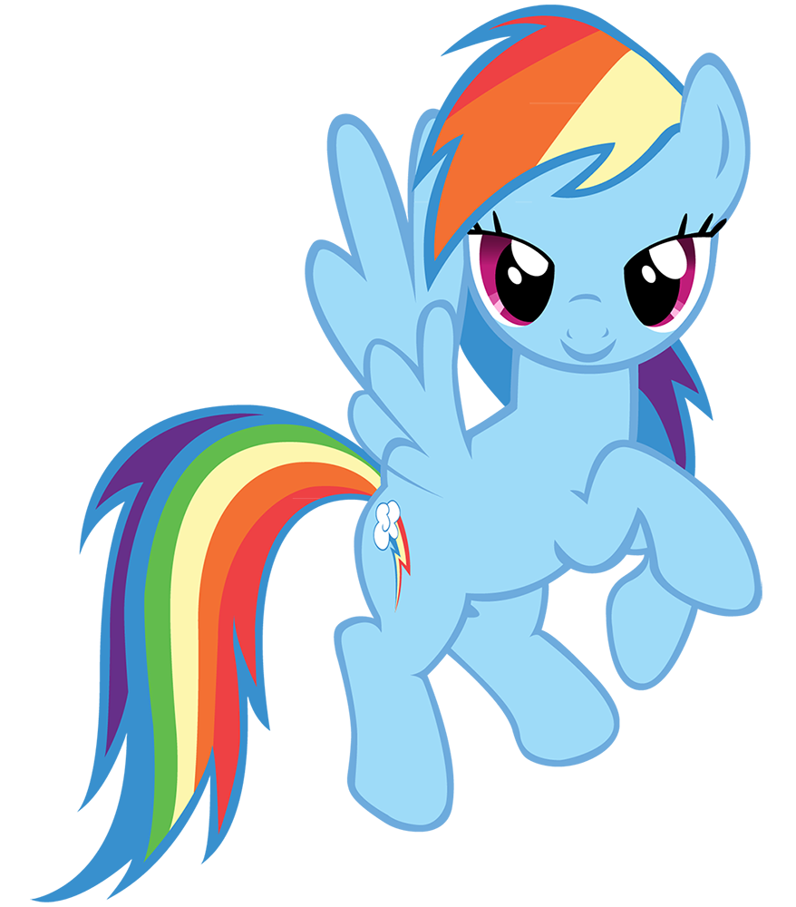 878x1000 Rainbow Clipart My Little Pony