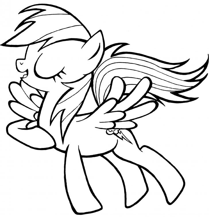728x758 Coloring Book My Little Pony Pony Rainbow Dash Coloring Page