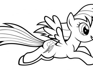 320x240 My Little Pony Rainbow Dash Coloring Page Rainbow Dash Coloring