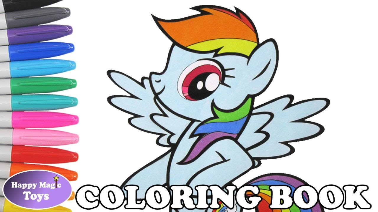1280x720 Rainbow Dash Coloring Book Page My Little Pony Rainbow Dash