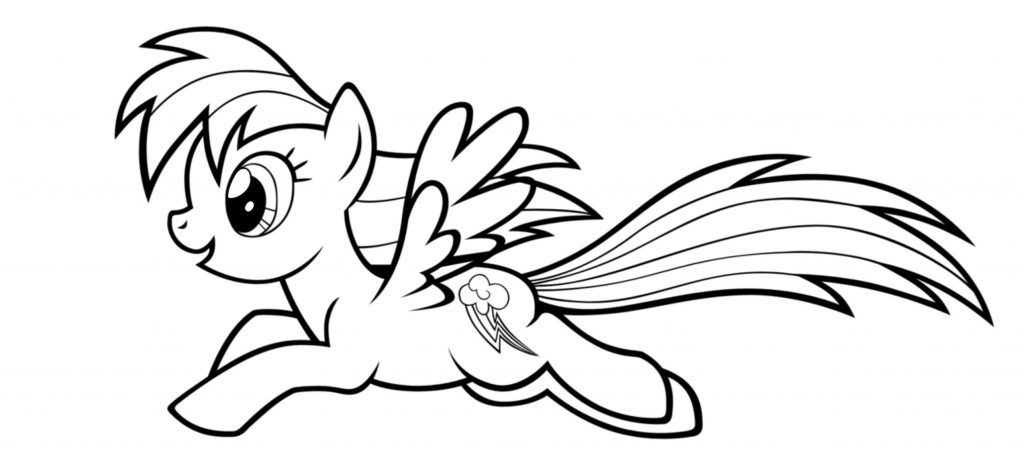 picture relating to Rainbow Dash Printable named My Tiny Pony Rainbow Sprint Coloring Internet pages Absolutely free down load