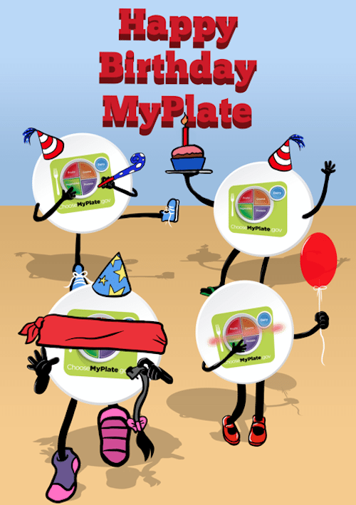 500x709 Happy Birthday To Myplate! Food And Health Communications