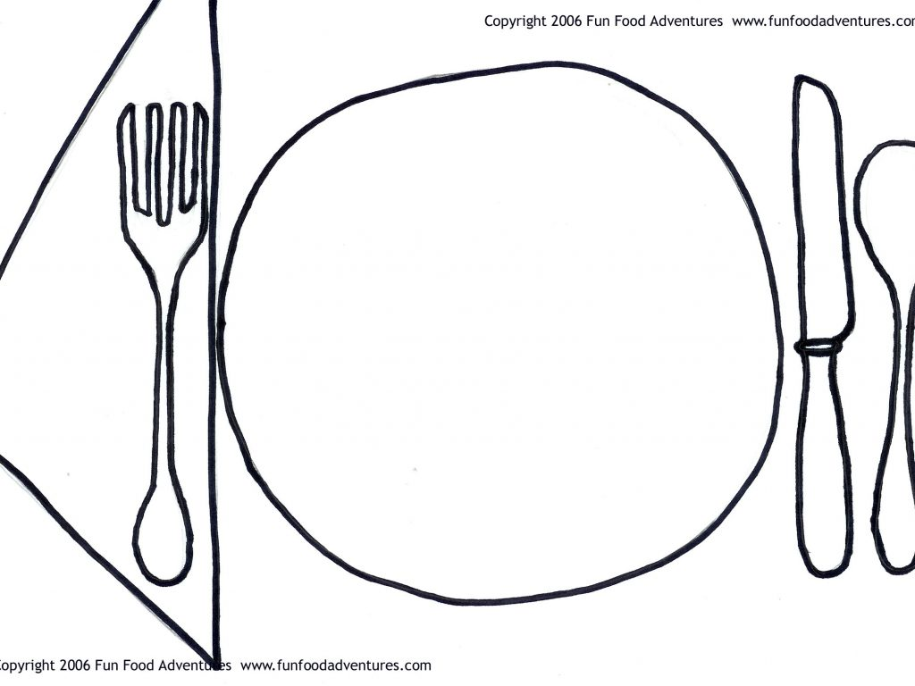 1024x768 Myplate Coloring Page
