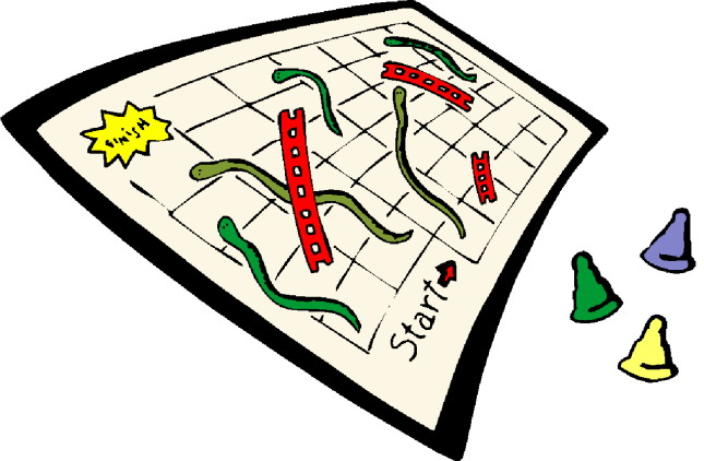 645x422 Snake And Ledder Board Game Clipart