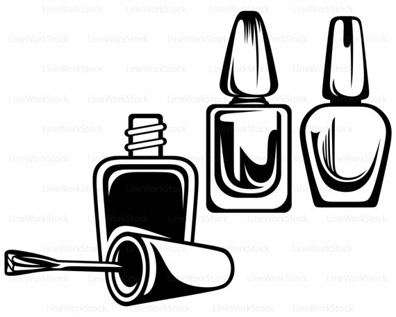 Collection Of Nail Polish Clipart