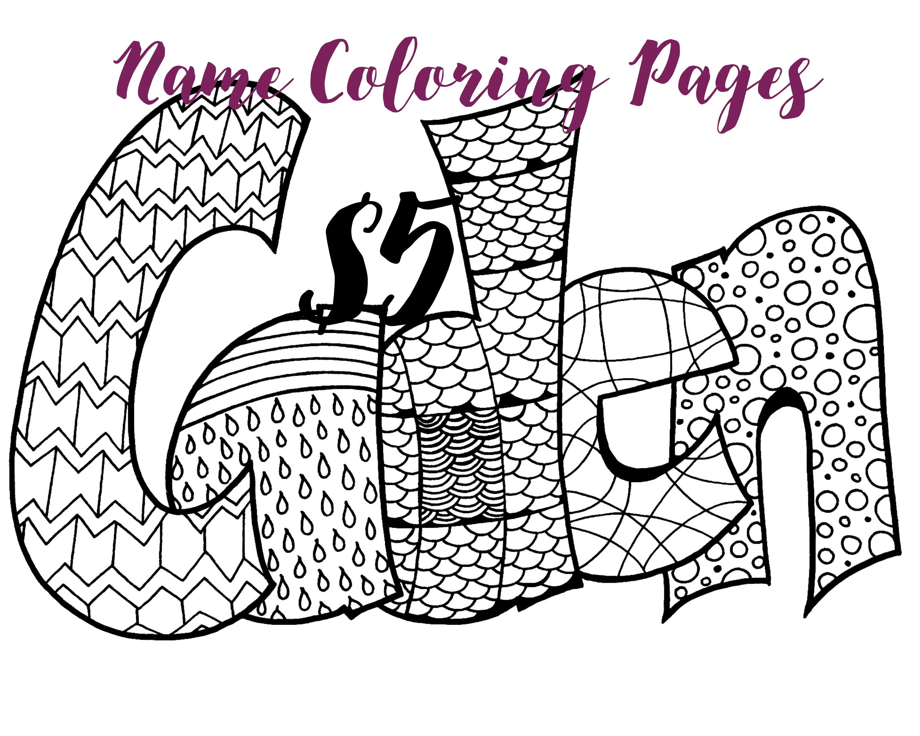 Exhilarating image throughout printable name coloring pages