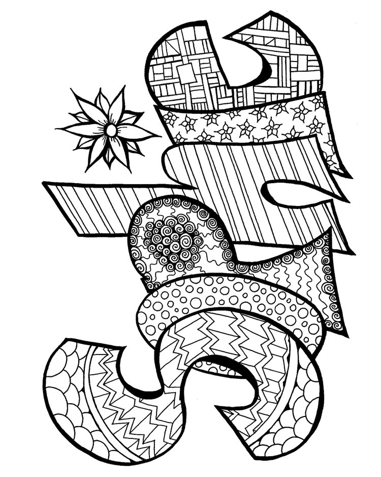 Name Coloring Pages Free download