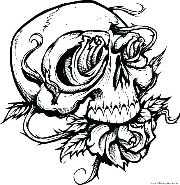 618x637 Marvelous Appealing Free Printable Skull Coloring Pages Print