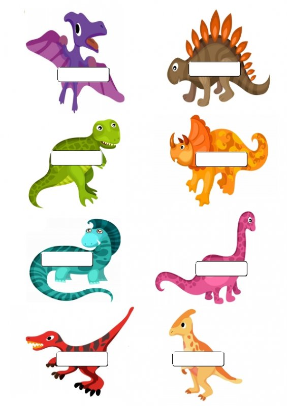 565x800 Free Printable Dinosaur Name Tags. The Template Can Also Be Used
