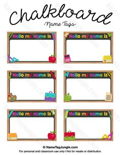 236x305 Free Printable Preschool Name Tags. The Template Can Also Be Used
