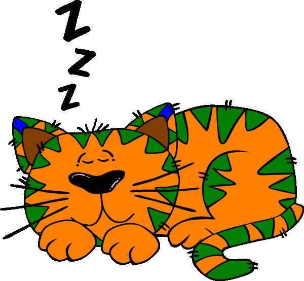 600x554 Sleepy Cat Clip Art